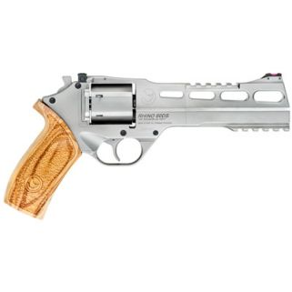 "Chiappa Rhino 357 Magnum 6"" Barrel W/ Fiber Optic Sights 6Rd Walnut Grip/Chrome 340-249"