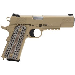 "Colt Government 45ACP 5"" Barrel W/ Novak 3 Dot Night Sights 7+1 Desert Tan O1070M45"