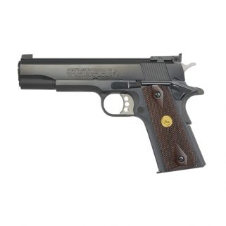 "Colt Gold Cup National Match S70 45ACP 5"" Barrel W/ Dovetail Post Front-Adjustable Bomar Style Rear Sights 8+1 Checkered Wood Grips/Blued O5870A1"