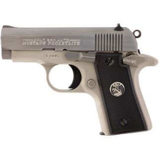 "Colt Mustang Pocket lite 380ACP 2.75"" Barrel W/ 3 Dot White Sights 6+1 Black/Nickel 06891"