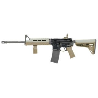 "Colt AR-15 223 Remington/5.56NATO 16.1"" Barrel W/ Adjustable Front-Flip Up Rear Sights 30+1 Black/Flat Dark Earth LE6920MPS-FDE"
