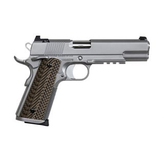 "CZ DW Specialist 9mm Luger 5"" Barrel W/ Tactical Ledge Tritium Sights 10+1 G10 Grips/Matte Stainless 01893"