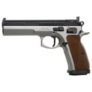 "CZ 75 Tactical Sport 40S&W 5.4"" Barrel W/ Fixed Target Sights 16+1 Wood Grip/Steel 91171"