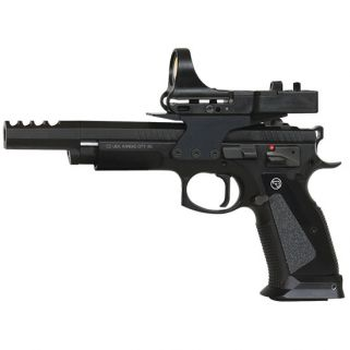 "CZ 75 Tactical Sport CZECHMATE 9mm Luger 5.4"" Barrel W/ Fixed/C-More Sights 20+1/26+1 Black 91174"