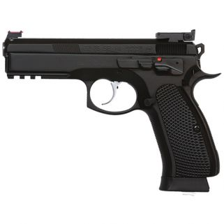 "CZ 75 SP-01 Shadow Custom 9mm 4.61"" BarrelAdjustable-Fiber Optic Sights 18+1 Black 91760"