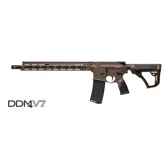 "Daniel Defense DDM4 V7 223 Remington/5.56NATO 16"" Barrel 30+1 Brown Cerakote 02-128-02338-047"