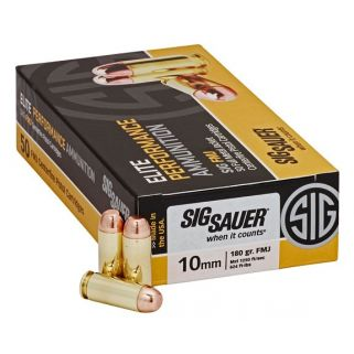 Sig Sauer Elite Performance 10mm 180 Grain 50Rd Box E10MB1