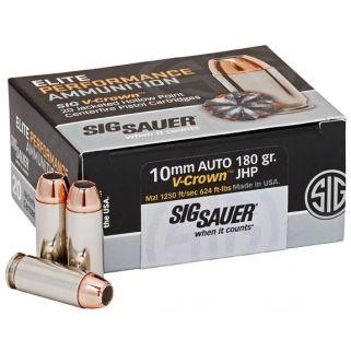 Sig Sauer Elite V-Crown 10mm 180GR 20Rd Box E10MM1