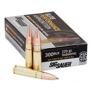 Sig Sauer Elite Match 300 Blk 220GR 20Rd Box E300A220