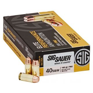 Sig Sauer Elite Performance 40S&W 180 Grain FMJ 50Rd Box E40SB2