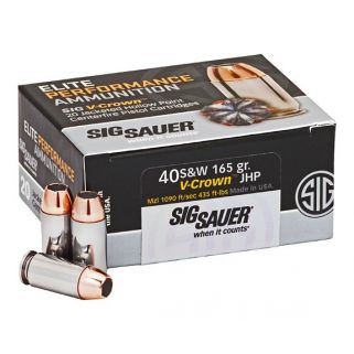 Sig Sauer Elite Performance 40S&W JHP 165 Grain 20 Box E40SW1