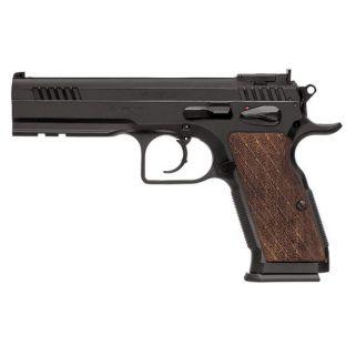 "EAA Witness Stock III 9mm 4.75"" Barrel 17+1 Wood Grip/Blued 600595"