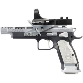 """EAA Witness Xtreme Gold 9mm 5.25"""" Barrel 17+1 Black/Silver 610066"""