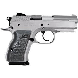 """EAA Witness 40S&W 3.6"""" Barrel W/ Adjustable Sights 12+1 Black Grip/Stainless 999098"""
