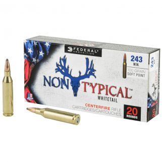 Federal Non-Typical Whitetail 243 Winchester 100 GR Soft Point - 20 Round Box 243DT100