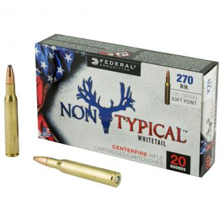 Federal Non-Typical Whitetail 270 Winchester 130 GR Soft Point - 20 Round Box 270DT130