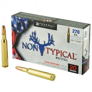 Federal Non-Typical Whitetail 270 Winchester 150 GR Soft Point - 20 Round Box 270DT150