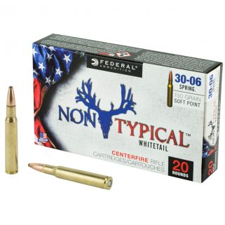 Federal Non-Typical Whitetail 30-06 Springfield 150 Grain Soft Point - 20 Round Box 3006DT150