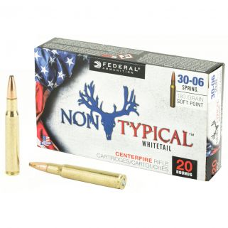 Federal Non-Typical Whitetail 30-06 Springfield 180 Grain Soft Point - 20 Round Box 3006DT180