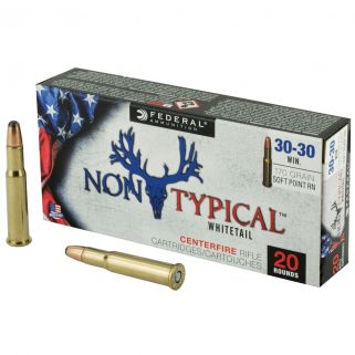 Federal Non-Typical Whitetail 30-30 Winchester 170 GR Soft Point - 20 Round Box 3030DT170