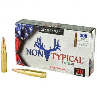 Federal Non-Typical Whitetail 308 Winchester/7.62 NATO 150 GR Soft Point - 20 Round Box 308DT150