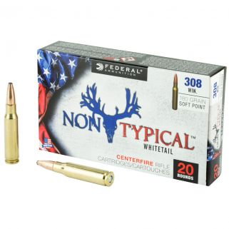 Federal Non-Typical Whitetail 308 Winchester/7.62 NATO 180 GR Soft Point - 20 Round Box 308DT180