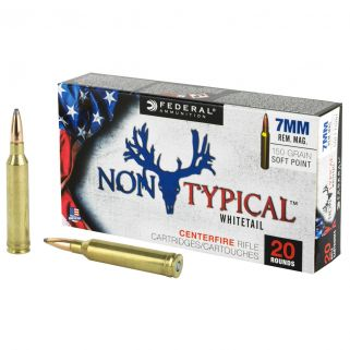 Federal Non-Typical Whitetail 7mm Remington Magnum 150 GR Soft Point - 20 Round Box 7RDT150