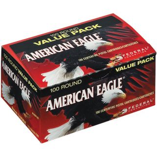 FED AMERICAN EAGLE 9MM 115GR FMJ 100/5
