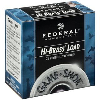 FED GAME-SHOK HI-BRASS 12GA 2.75 1.25OZ #4 25/