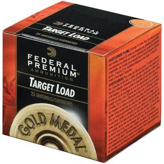 """Federal Target Gold Medal Plastic 28 gauge 2.75"""" 3/4 oz #9 Shot 25 Rnd Bx T2809"""