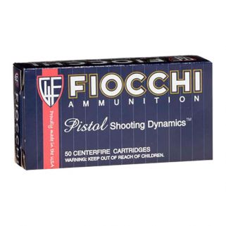 Fiocchi Shooting Dynamics 40S&W 180 Grain JHP 50 Round Box 40SWE
