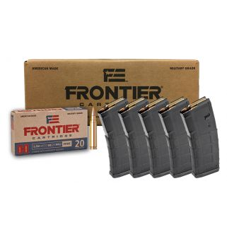 Hornady Frontier 5.56NATO 500rd Case + 5 Magpul M2 MOE 30rd PMAGs FR200 / MAG571 *Package*