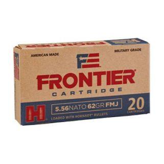 Hornady Frontier 5.56NATO 62 Grain FMJ 500 Round Case FR260