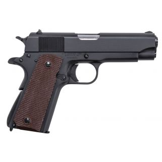 "Auto-Ordnance 1911A1 GI 45ACP 5"" Barrel W/ Drift Adjustable Rear-Blade Front Sights 7+1 Brown Grip/Matte Black 1911BKOC"