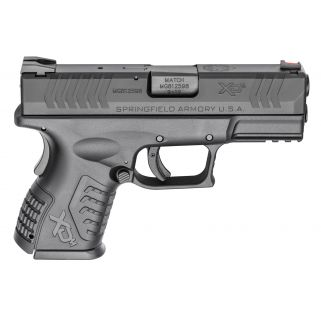 "Springfield Armory XDM Compact Essentials 9mm 3.8"" Barrel W/ Fiber Optic Front-Combat Rear Sights 19+1 Black XDM9389CBHCE"