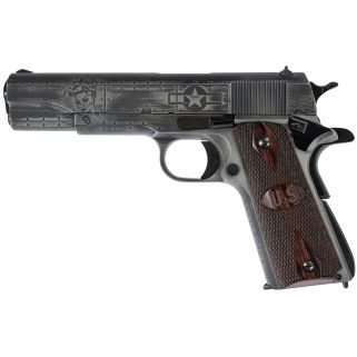 "Auto Ordnance 1911 Victory Girls Custom 45ACP 5"" Barrel W/ Drift Adjustable Rear-Blade Front Sights 7+1 Checkered Wood Grips/Gunmetal Grey 1911BKOWC1"