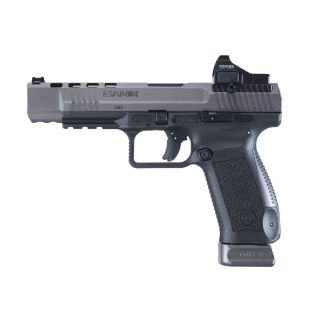"""CANIK TP9SFX 9MM 5.25"""" 20RD W/ RED D"""