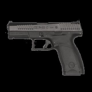 "CZ P-10 Compact 9mm Luger 4.02"" Barrel W/ Metal 3 Dot Sights 10+1 Black 01520"