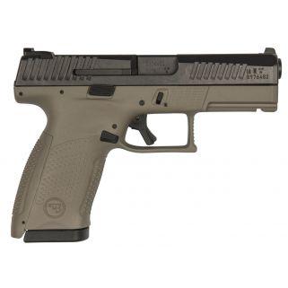 "CZ P-10 Compact 9mm Luger 4.02"" Barrel W/ Metal 3 Dot Sights 10+1 Flat Dark Earth/Black 01521"
