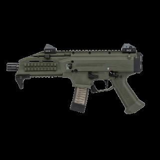"""CZ Scorpion Evo 3 S1 9mm 7.72"""" BarrelLow Pro  20+1 OD Green 91355"""