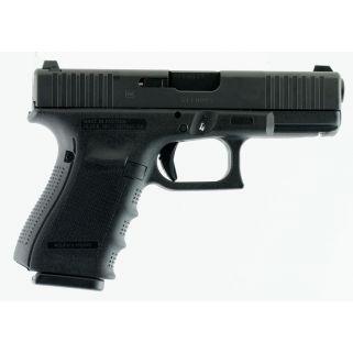 "Glock 19 G4 9MM 4"" Barrel 15 Rd Front Serrated Black PG1950433FS"