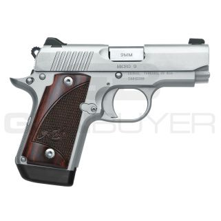 "Kimber Micro 9 Stainless 9mm Pistol 3"" Barrel 7+1 3300158"