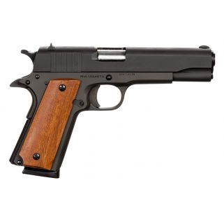 "Rock Island 1911 Standard GI 45ACP 5"" Barrel W/ Fixed Sights 8+1 Wood Grip/Parkerized 51431"
