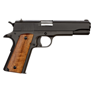 "Rock Island Armory 1911 GI 9mm 5"" Barrel W/ Fixed Sights 9+1 Smooth Wood Grip/Parkerized 51615"