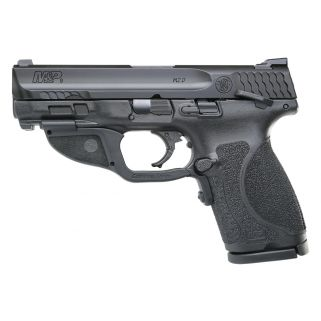"""Smith & Wesson M&P M2.0 Compact 9mm 4"""" Barrel W/ Crimson Trace Green Laserguard 15+1 Manual Thumb Safety 12414"""