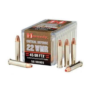 Hornady Critical Defense 22WMR 45 Grain FTX 50 Round Box 83200