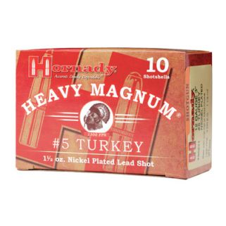 "Hornady Heavy Magnum Shotgun 12 Gauge #5 Nickel 3"" Turkey 10 Round Box 86241"