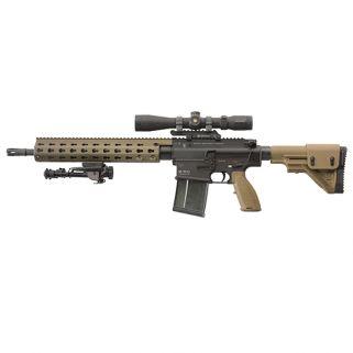 HK MR762 LRP II 7.62X51 TAN ADJ STK LEU 3-9X40