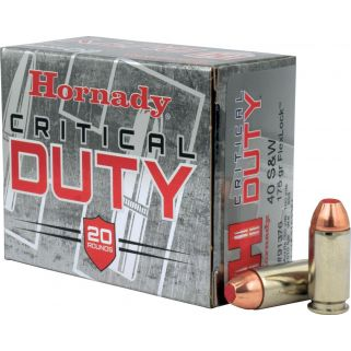 Hornady Critical Duty 40S&W 175GR 20Rd Box 91376