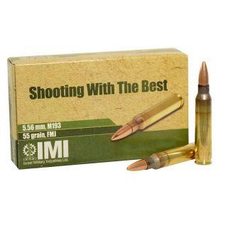 IMI M193 5.56MM 55GR FMJ 1000 Round Case 10-162-9990B9
